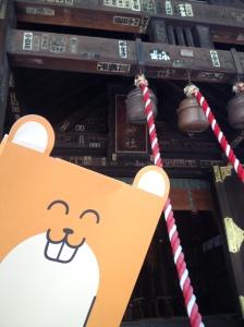 El templico de Tsukiji, qué ganas tenía de estirar esas cuerdas...